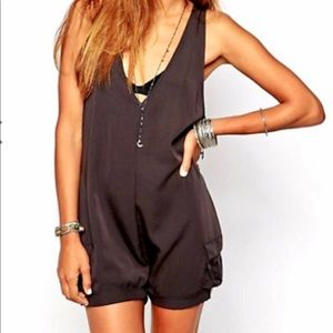 One Teaspoon Navy Romper Playsuit